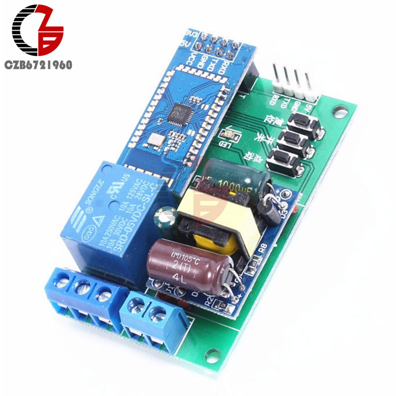 AC220V to DC5V 1 Channel Key Trigger Bluetooth Control Relay Power Supply Module SCM TTL Serial Port Cycle Timer usb to gsm serial port gprs sim800c module with bluetooth ultra sim900a computer control call