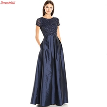 Dreambridal Beaded Bodice Dress with Taffeta Gown and Woman robe de soiree manche longue rhinestone Long Sexy Prom Dress Evening