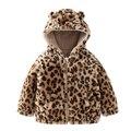 Winter Warm Coat Baby Cotton Jacket Infant Leopard grain Zipper Hooded Baby Outerwear Fashion Kids Fleece Thick Overcoat