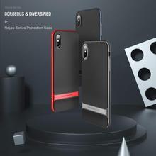 цена на Rock Anti-knock Case For Iphone Xs Xr Xs Plus 2018 Royce Case Ultra Thin Slim Armor Cover Shell Hard Pc+soft Tpu Back Capa