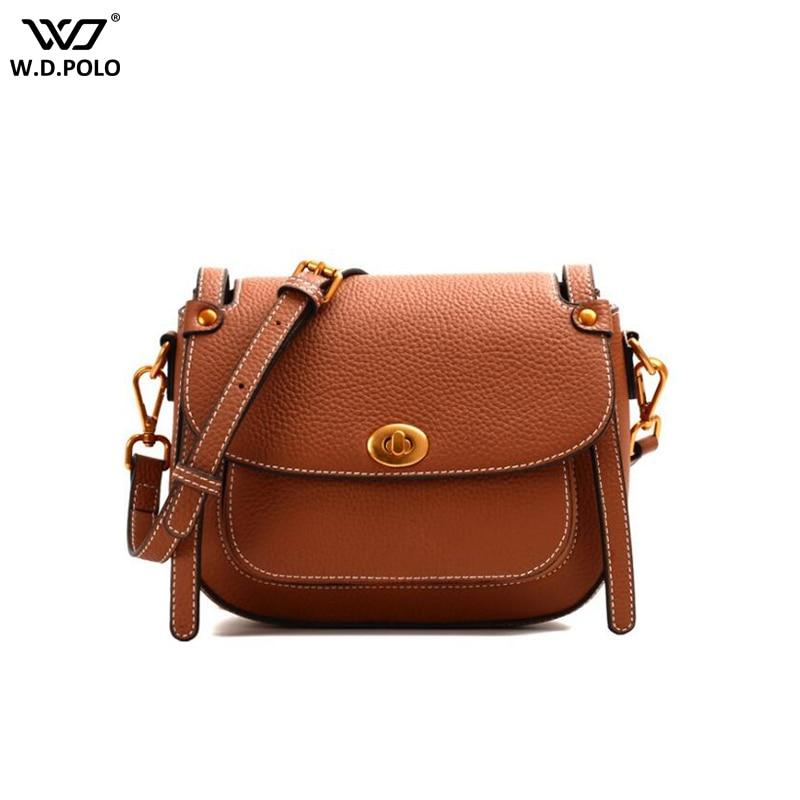WDPOLO New Classic Cover Saddle Crossbody Bags Women Split Leather Handbags Chic Lady Messenger Bag For Female C581 настольный пк dell vostro 3268 3268 4399 3268 4399