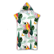 3D Digital Printing Parrot Hooded Towel Wearable Bath For Adults Flamingo Tropical Travel Microfiber Beach Towels style-4