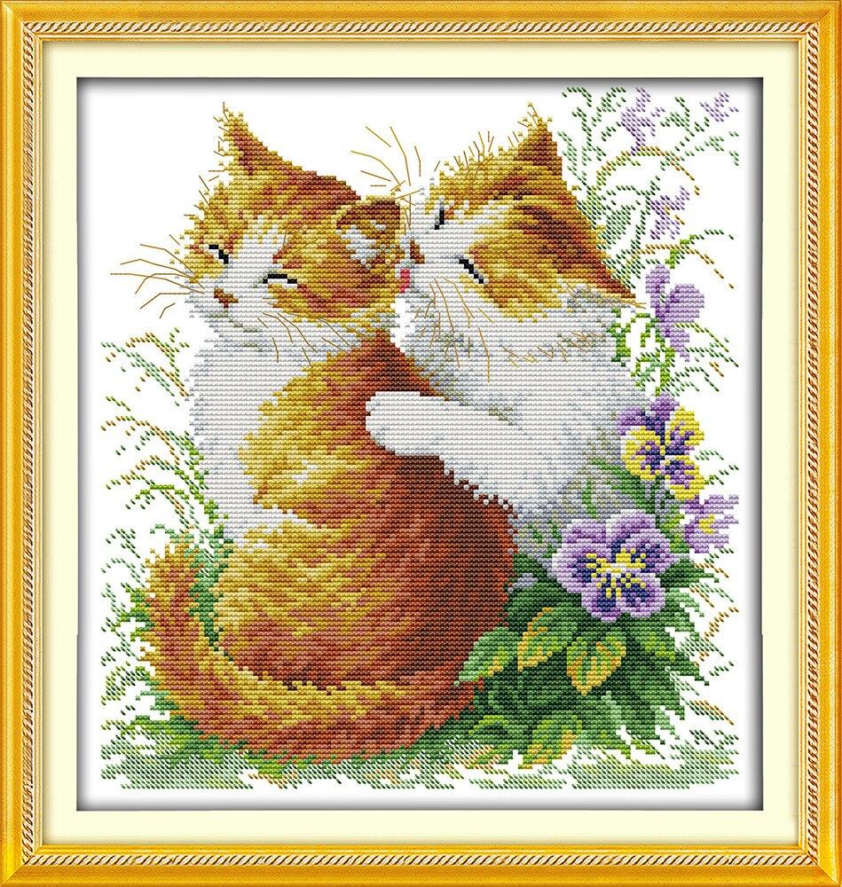 Lijepih mačaka prebrojani križevi setovi DMC žigosani križić - Umjetnost, obrt i šivanje - Foto 2