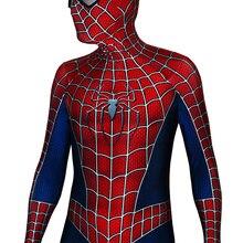"""Человек-паук Рэйми костюм 3D с принтом Хэллоуин костюмы зентай костюм """"Человек-паук"""" Косплэй боди"""