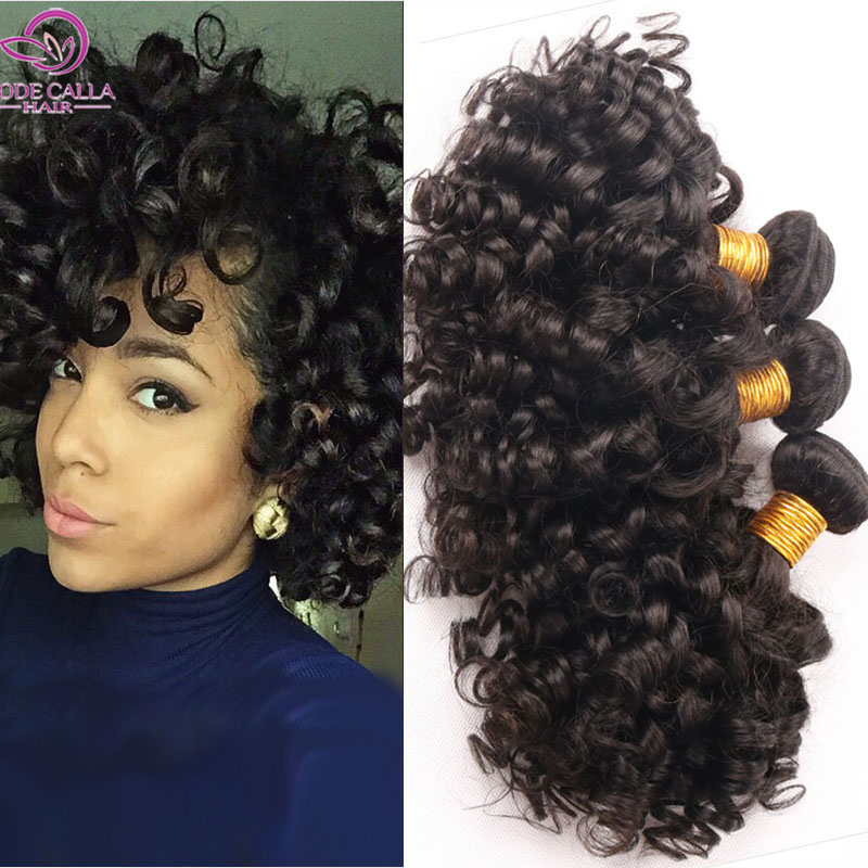 6a Indian Curly Virgin Hair Weave Bundles Spiral Jerry