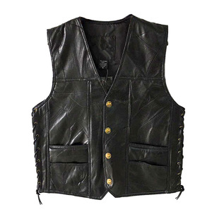 Image 1 - Chaqueta de cuero, gran oferta, chaleco para hombre, sin mangas, Punk, de bolsillo, holgado, marca negra, chaleco para motocicleta, abrigos, ropa de calle para hombre de PU
