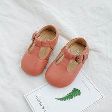 8a1fd777f LANSHITINA الرجعية طفل بو أحذية من الجلد فتاة الأميرة أحذية الحفلات الأطفال  الأسود البيج حذا فردي للسيدات للأطفال الصغار TX007