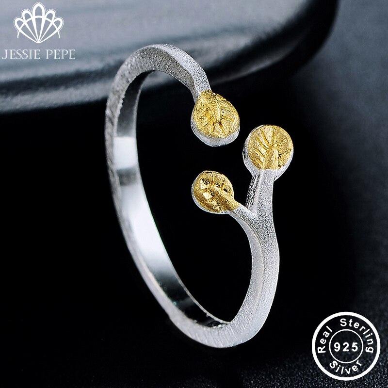 Jessiepepe goshawk head  100% 925 Sterling Silver Simple Adjustable Ring Fine S925 jewelry #J-RY013