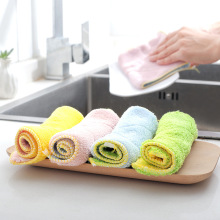 3pcs/lot Microfiber Household Glass Window Cleaning Cloth Kitchen Absorbent Dishcloth Rags Washing Towel