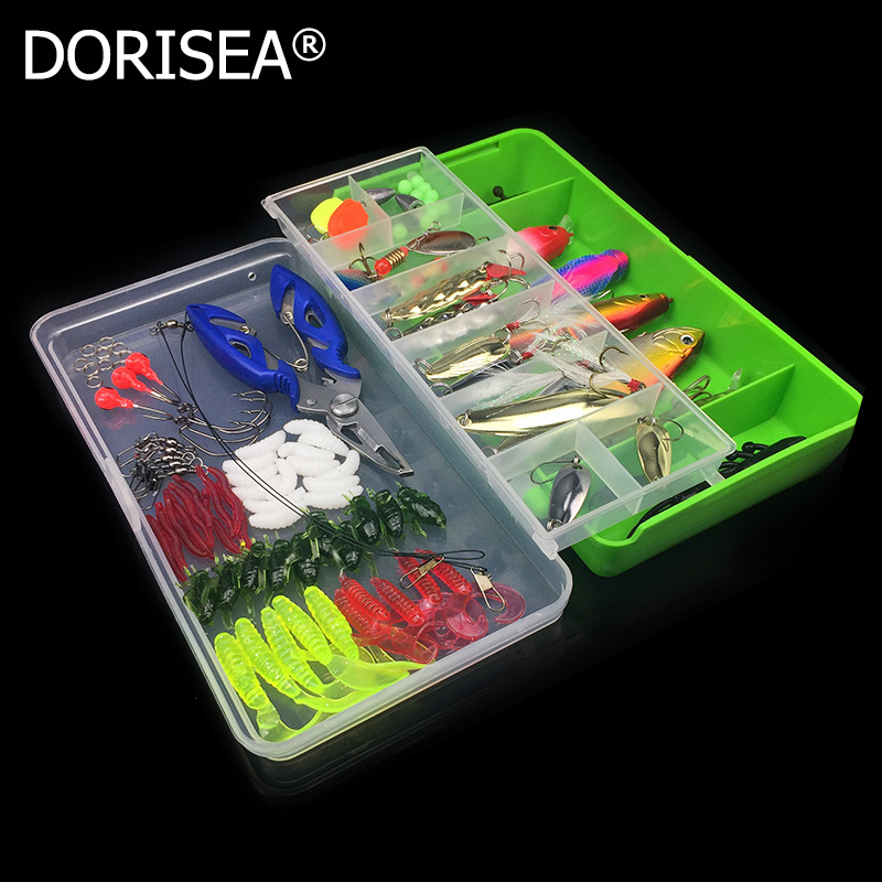 Free Shipping 101pcs Fishing Lures Set mixed Fishing Accessories Minnow/Popper Spoon Hooks Artificial Bait Kit High Quality 101pcs set almighty fishing lures kit with box hard soft bait minnow spoon crank shrimp jig lure fishing tackle accessories