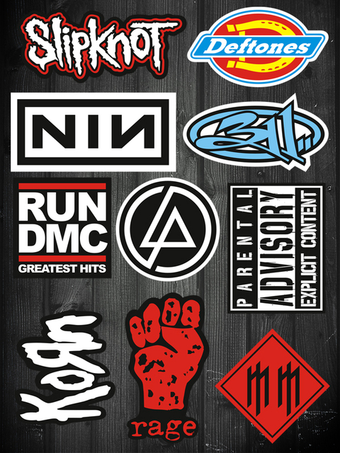 Metal Band Logo Stickers