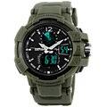 SKMEI Brand Fashion Outdoor Men Sports Watches Waterproof Military Wristwatches Quartz LED Digital Dual Display Watches 1040