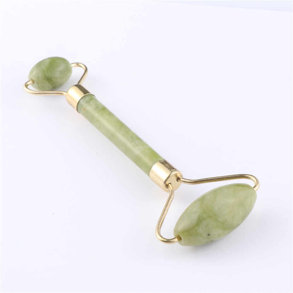 Facial Massage Roller Double Heads Jade Stone Face Lift Hands Body Skin Relaxation Slimming Beauty Health Care