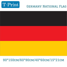 Free shipping 15x21cm 40x60cm 60x90cm 90x150cm 3x5 feet Germany National Flag Polyester