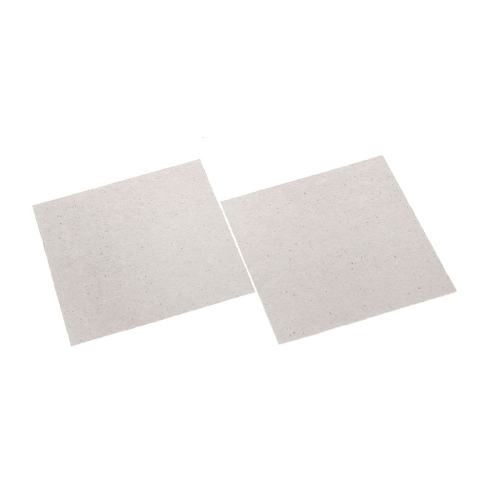 MEXI 2 Pcs 13 x 13cm Microwave Oven Mica Sheets Repairing Accessory Plates Sheets rmg a501 brass sounding buzzer sheets yellow 10 pcs
