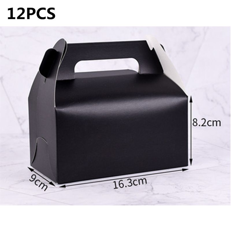High Quality Wholesale 12pcs Pearl Light Party Treat Boxes Black Gorgeous Gift Cupcake Box Drop Shipping in Color Shape from Toys Hobbies