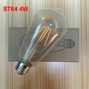 Image 3 - E27 AC110V 220V Vintage ST64 LED ampul dim 2W 4W 6W 8W Filament Edison LED 2300K 2700K 6000K sarı sıcak soğuk beyaz renk