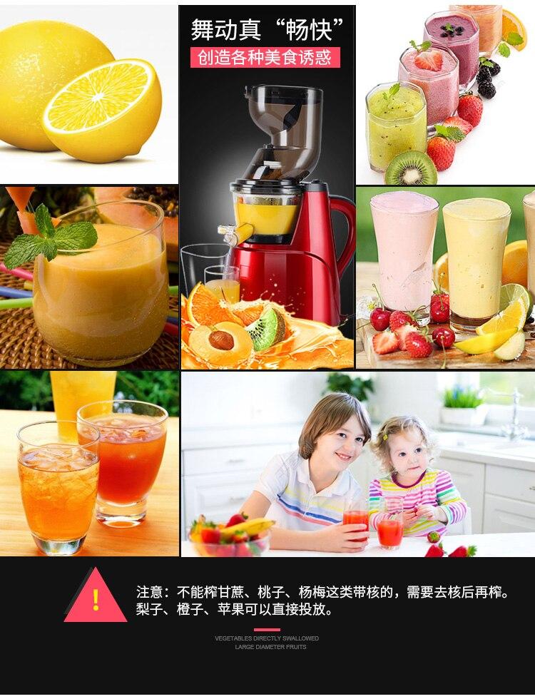 Juicer Juice Separation Large-caliber Juice Machine  Automatic Juicer Multi-functional Fruit and Vegetable Fried Juice Machine 14
