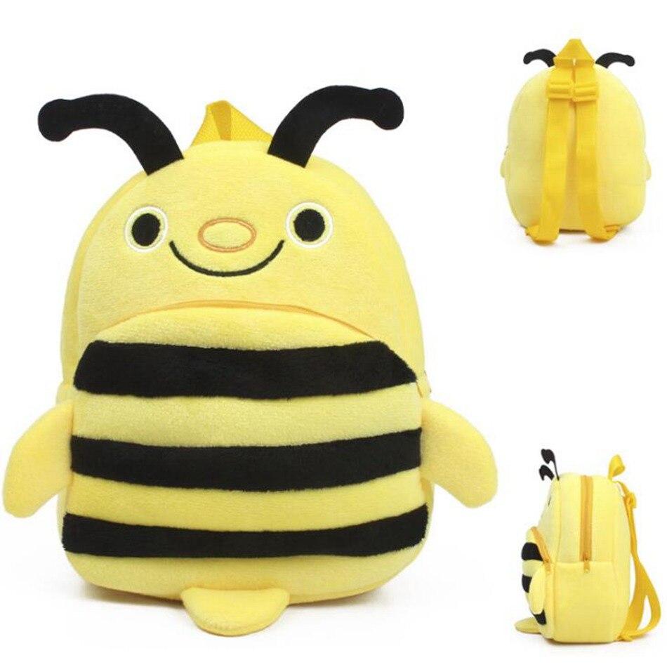 2018 Plush Children Bee Backpacks Students In School Bag Backpack Boy Girl Bag Kids Baby ...