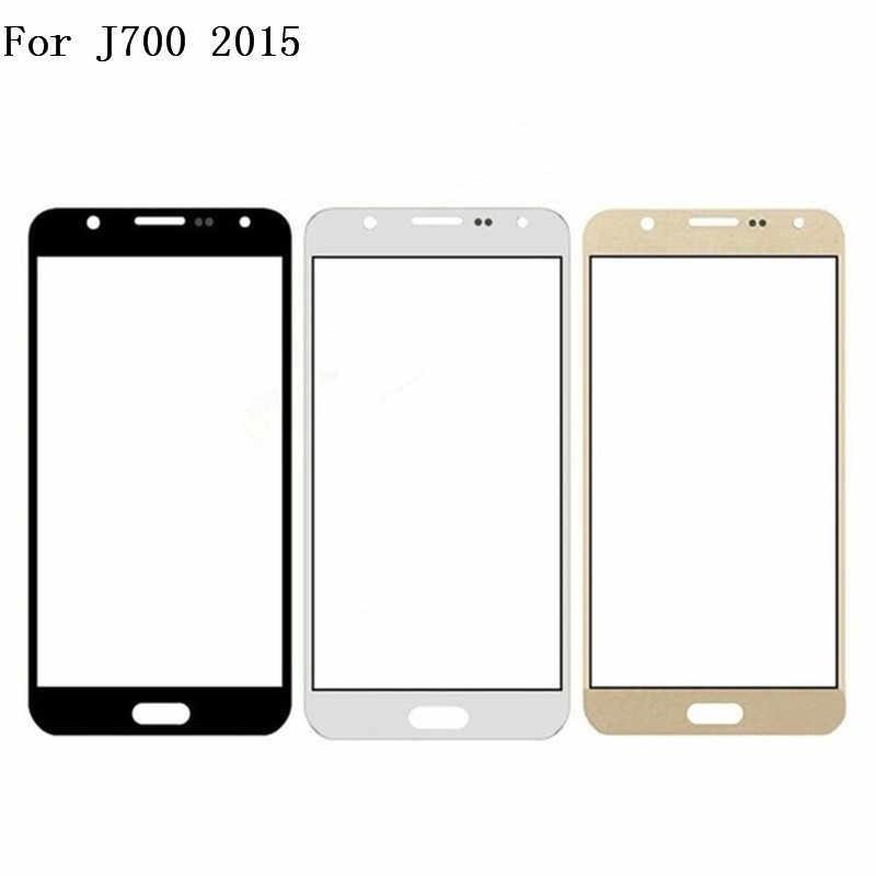 Top Qualidade Para Samsung J7 2015 Outer Lente de Vidro Parte Substituição para Samsung Galaxy J7 J700F 2015 J700 tela Sensível Ao Toque vidro da frente