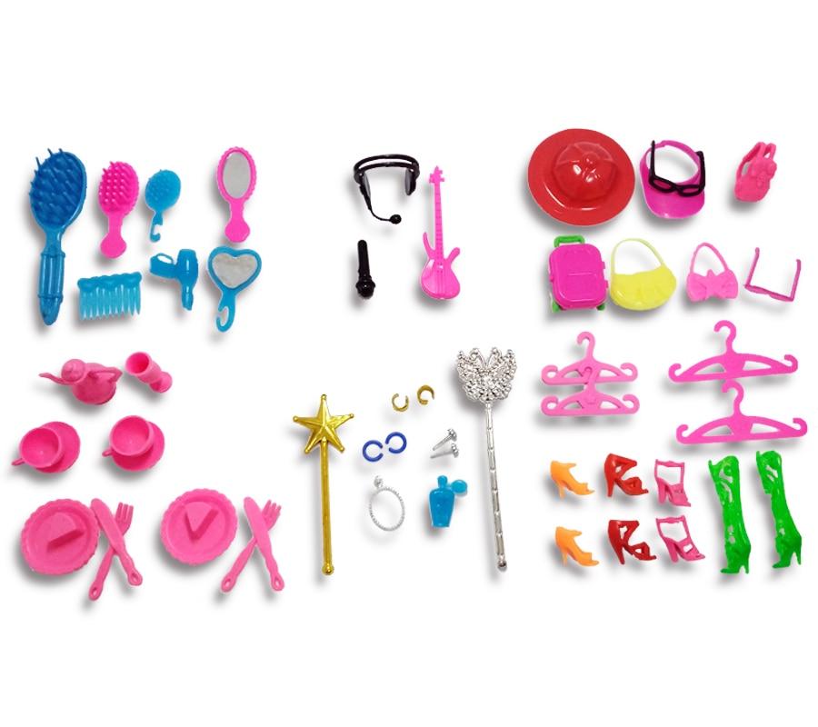 50pcs set Kids font b Toy b font font b Doll b font Accessories For font