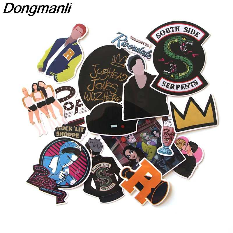 15Pcs/set Riverdale Waterproof for PVC Scrapbooking for Luggage Laptop Guitar skateboard DIY Decoration Accessory M2003