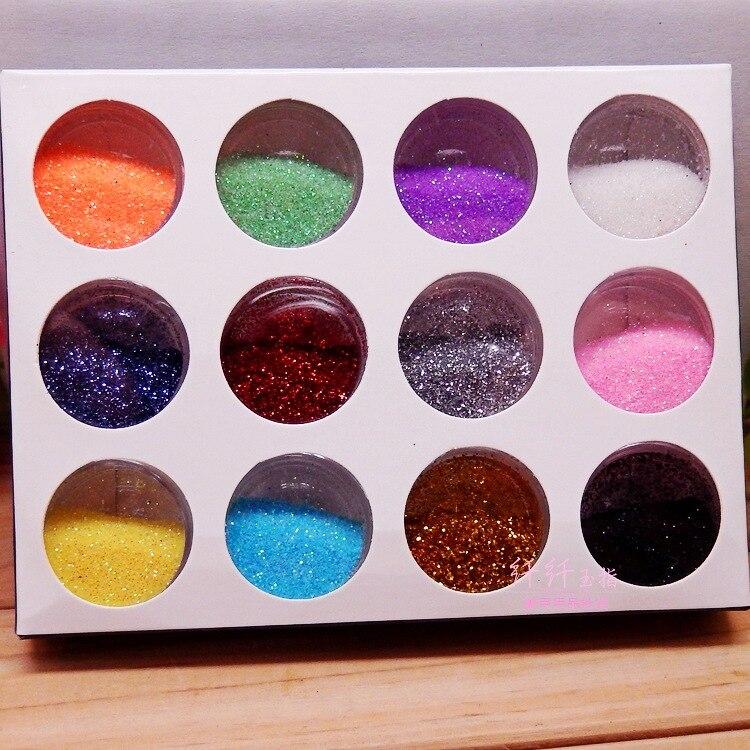Fashion 12 Bling Metal Glitter Nail Art Аксессуарлар - Маникюр - фото 4
