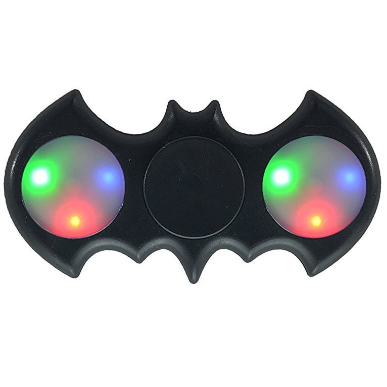 Batman LED Light Fidget Spinner Finger Hand Spinner For Autism ADHD Relief Focus Anxiety Stress Spiner Toys finger spinner plastic edc hand spinner for autism and adhd anxiety stress relief focus gift toys