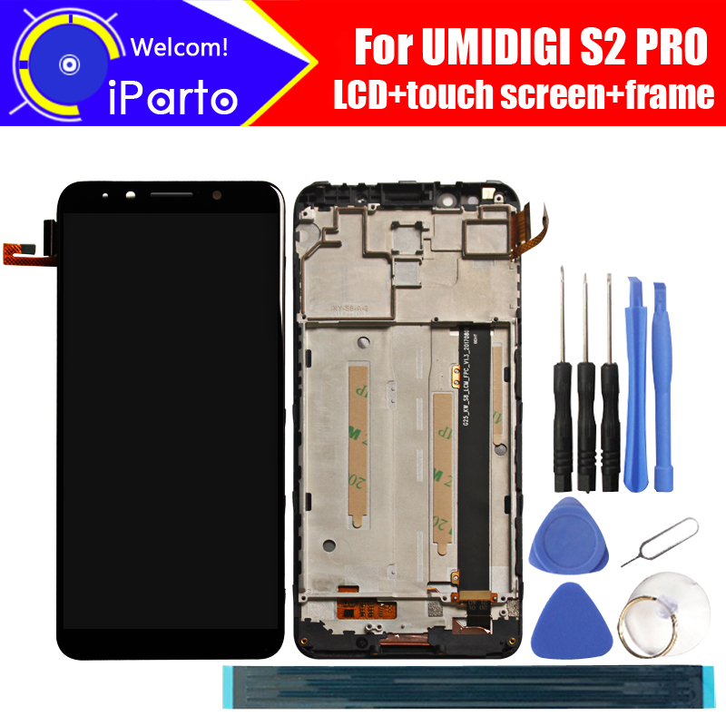 6.0 pouces UMIDIGI S2 Pro LCD affichage + écran tactile numériseur + cadre assemblée 100% Original LCD + tactile numériseur pour UMI S2 Pro