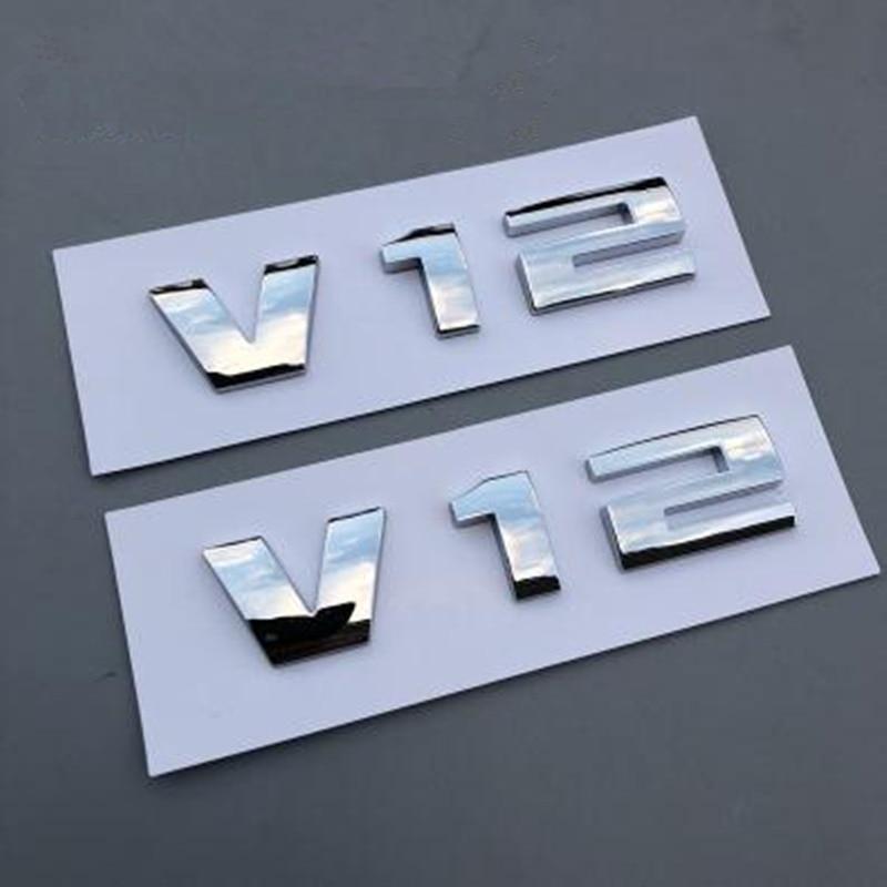 Bmw Z4 V12: 10pcs V12 Car Side Body Decoration Emblem For BMW E46 E60