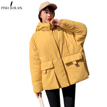 PinkyIsBlack 2019 New High Quality Winter Jacket Women Short Parkas For Coat Fashion Female Down Hooded