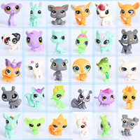 Children's 30Pcs/bag No repetition Small Pet Vinyl dolls Toys Animal Cat Dog Action Figures collection Kids Girl LSP toys gift