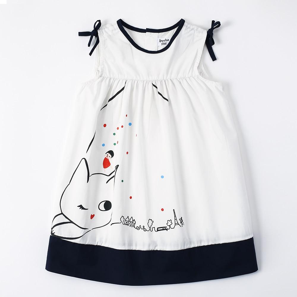 Cartoon Dressing Gown: IMMDOS Summer Girls Dress Kids Cartoon Knee Princess