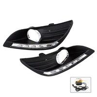 Free Shipping 2 Pcs Set Waterproof LED Daytime Running Light DRL For Ford Focus Sedan Fog