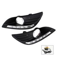 SUNKIA 2 Stks/set Waterdichte Led-dagrijverlichting DRL Voor Ford Focus Sedan Mistlampen Wijzigen