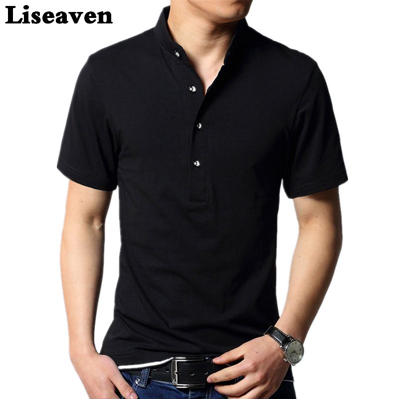 Liseaven Men Short Sleeve   Polo   Shirt Black Camisa Cotton PoloShirt Brand Men Tops & Tees Clothing