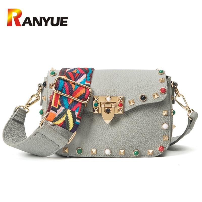Fashion Rivet Small Flap Women Bag Bolsos Mujer Designer Handbags High Quality P