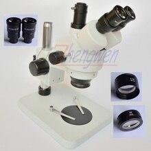 Ücretsiz kargo!! 3.5X180X masa ayağı standı Zoom büyütme trinoküler Stereo mikroskop SZM2.0X SZM0.5X lens
