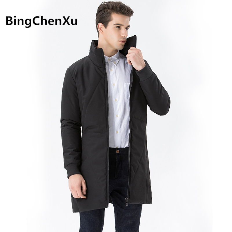 купить Business Men Overcoat Big Size Long Jacket Men Thicken Warm Jacket Winter Windbreak New Parka Slim Fit Casual Outwear Coat 556 дешево