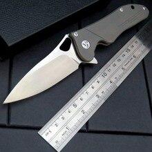 Newest Maker 3s design Original ceramic ball bearing Flipper folding knife S35vn Titanium handle camping hunting knife EDC tool