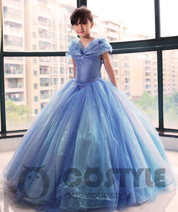 e86ee6dc37d US $189.9 |Fashion style New movie kid Cinderella Princess Dress Gorgeous  Costume cosplay halloween costumes for Child with 12 layer-in Girls  Costumes ...