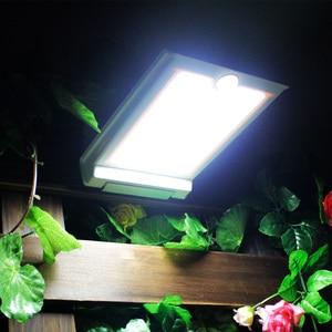 Image 1 - Süper parlak 46 LED açık güneş ışıkları güç ışık PIR hareket sensörü güvenlik su geçirmez bahçe için güneş lambası sokak