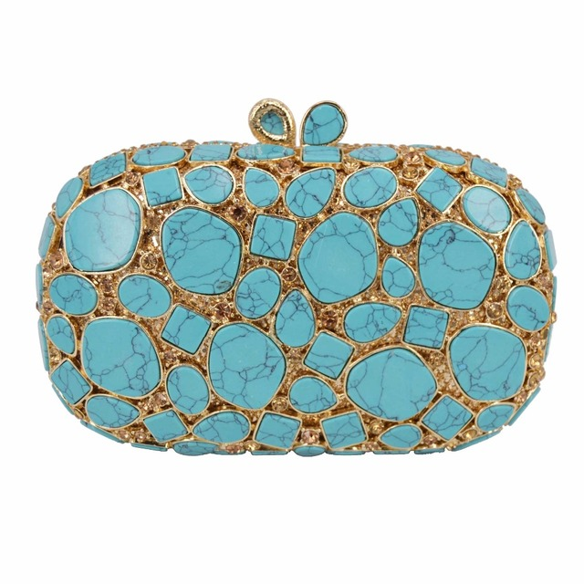 ee5e3dcaf6 US $74.12 32% OFF|Green clutch bag Women Party Fashion Luxury Evening Bag  Purse soiree pochette Mini Handbags business Day Clutches-in Top-Handle  Bags ...