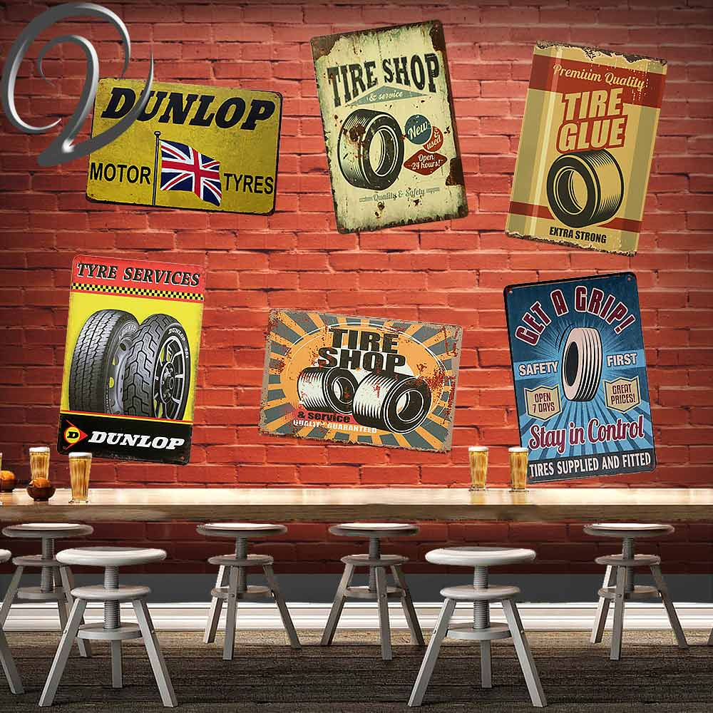 Tyre Service Motor Tire Shop Dunlop Tire Garage Basement