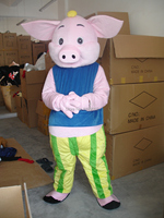 Mascot Cocoa pig walking dolls cartoon clothes cartoon doll clothes cartoon costume free ship