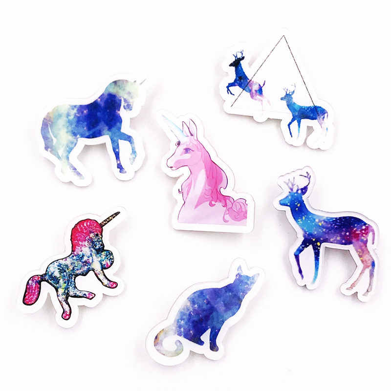 1 PCS leopard Deer Colorful Unicorn Karakter Icon Harajuku Acrylic Lencana Ransel Pakaian diy Stiker Anime Bros hadiah Pins