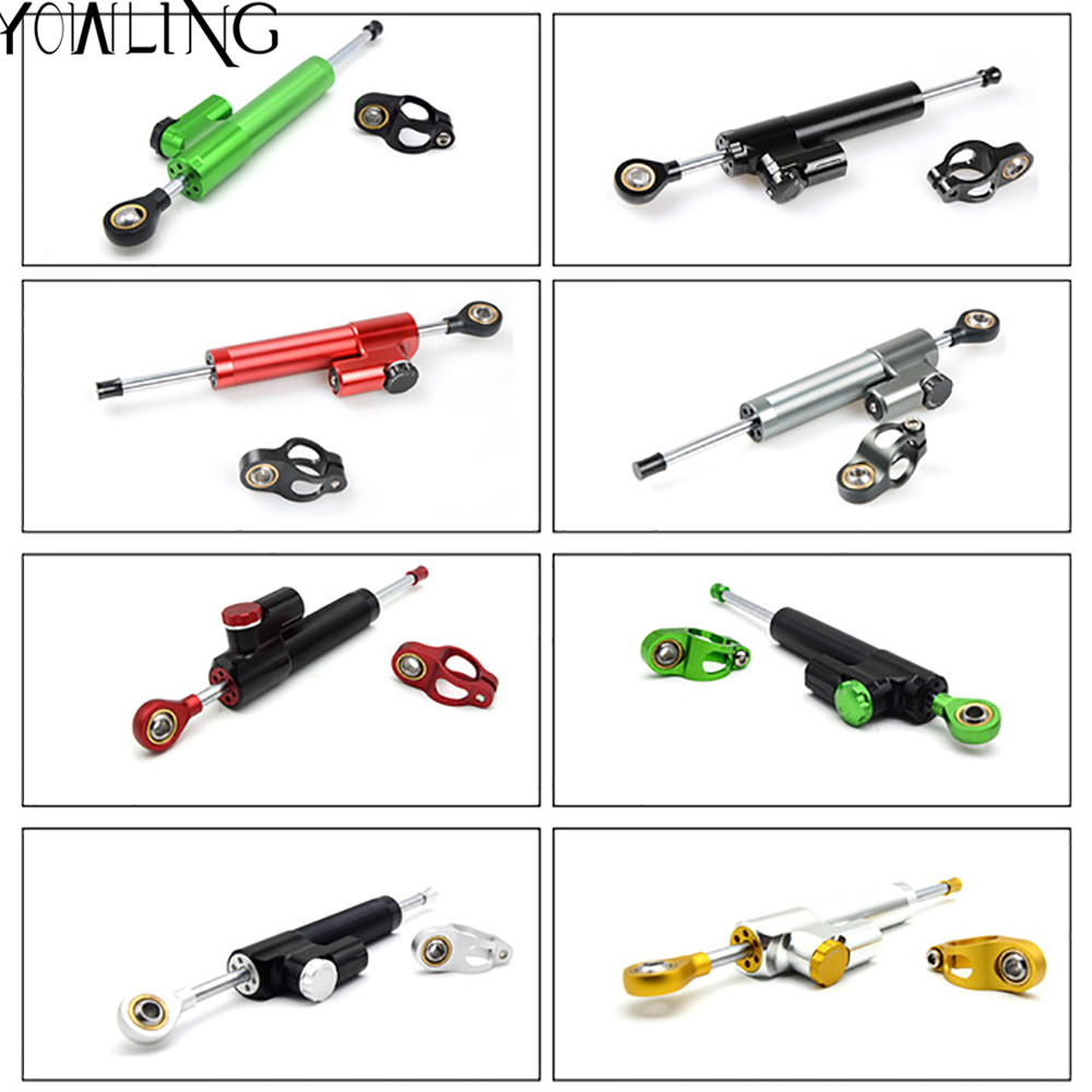 Motorcycle steering damper stabilizer linear reversed safety control for BMW F 800 S F 800 ST F 800 R S 1000 RR R 850 R K1200 RS universal motorcycle steering damper stabilizer linear reversed safety control