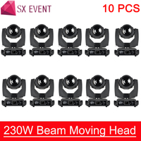 7R Beam Double Prism Sharpy Beam 230W 7R Moving Head Light with G clamp Base Fast Silent Beam 230 Beam 7R Stage DJ Disco Light