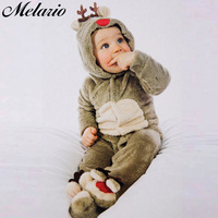 Melario   Baby     Rompers   2018 Autumn Winter new   Baby   Girls Clothes Flannel cartoon deer Kids Clothes Toddler Jumpsuit boys   Rompers