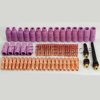 Tig welding Consumables KIT For 17 & 26 Series Air Cooled Torches and 18 Series Water Cooled Torches 63pcs